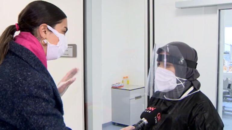 Koronavirüs hastalarına özel hal-hatır ekibi Odaya giriyorlar ve…