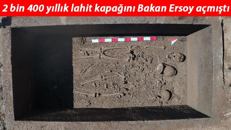 2 bin 400 yıllık lahit kapağını Bakan Ersoy açmıştı! 'Heyecan uyandırdı'