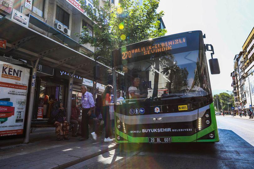Denizli Büyükşehir'in 10 otobüs hattı ALES için çalışacak