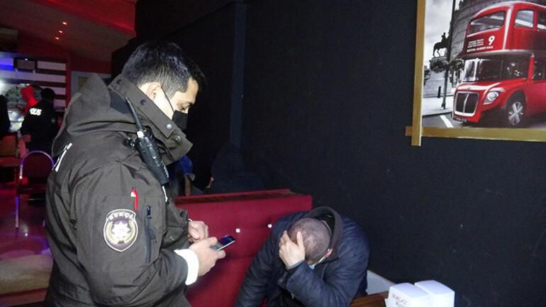 İzmirde şok baskın 22 kişiye ceza yağdı...