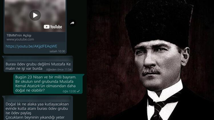Okulun WhatsApp grubunda Atatürk'e hakaret etmişti! Gözaltına alındı