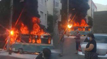 İzmir'de korku dolu anlar! Alev alev yandı… Yaralılar var