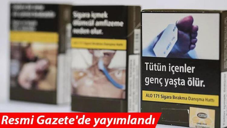 Sigara paketleri değişiyor! Resmi Gazete'de yayımlandı