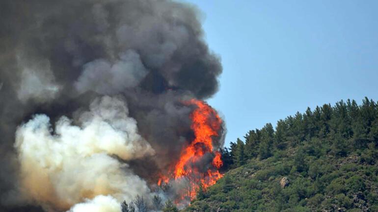 Son dakika... Marmariste orman yangını