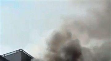 Denizli'deki yangından inanılmaz kare!