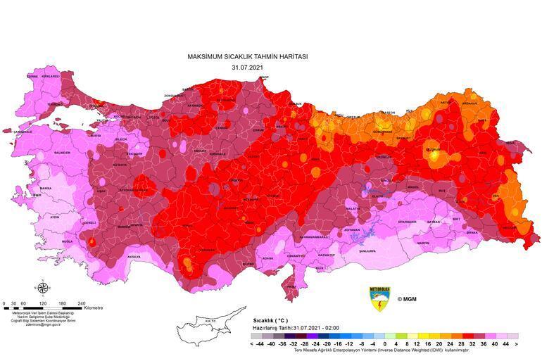 Son dakika: Aşırı sıcak hava alarmı Meteoroloji uyardı: İşte en yüksek sıcaklık haritası