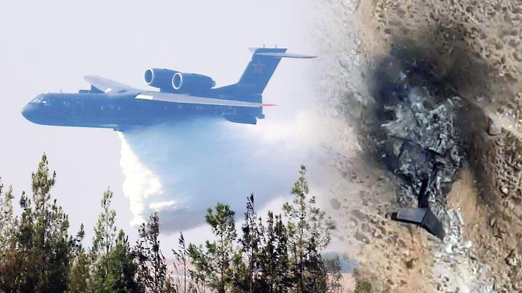 Yangın söndürme uçağı düştü! 8 mürettebattan kurtulan yok