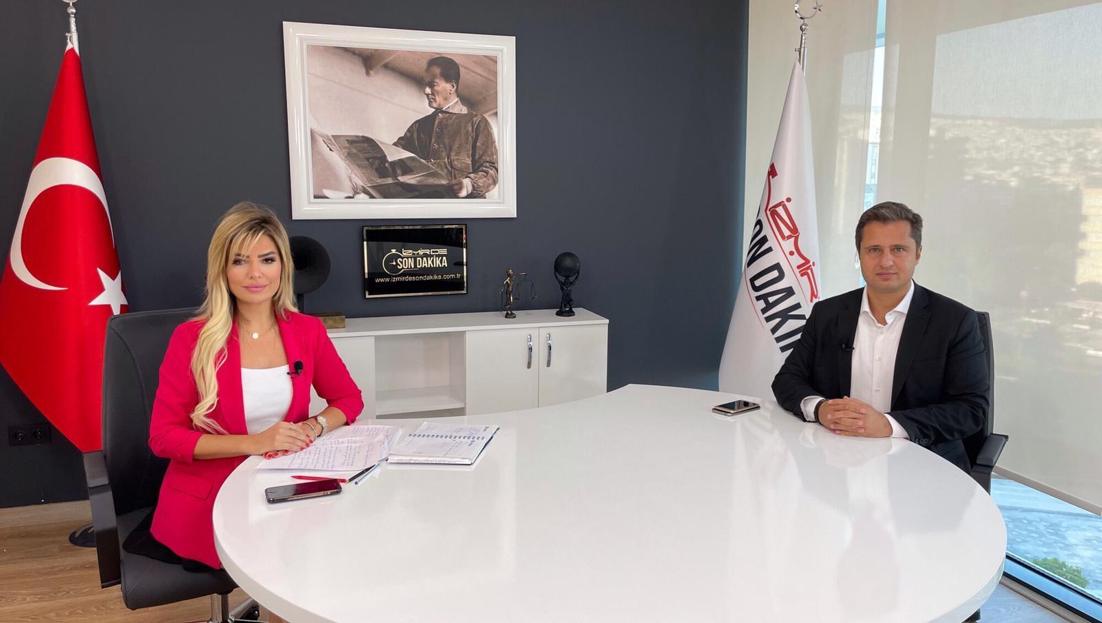 Chp İzmir İl Başkanı Deniz Yücel İzmirdesondakika canlı yayınına katıldı