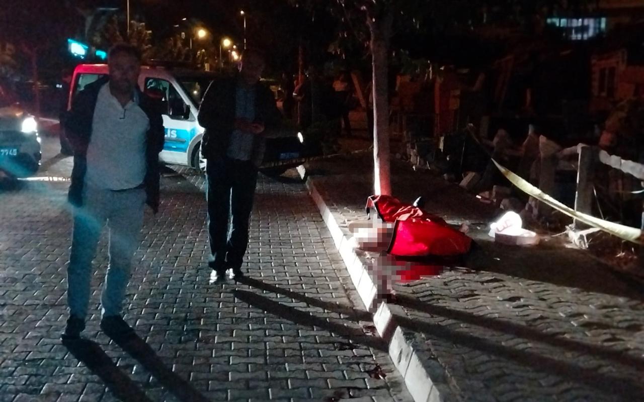 Aydın Didim'de bir kişi kaldırımda silahla vurulmuş hale bulundu
